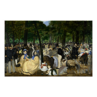 Music in the Tuileries Garden - Edouard Manet Poster
