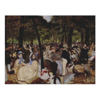 Music in the Tuileries Postcard
