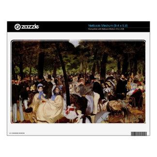 Music in Tuilerie Garden by Edouard Manet Medium Netbook Decals