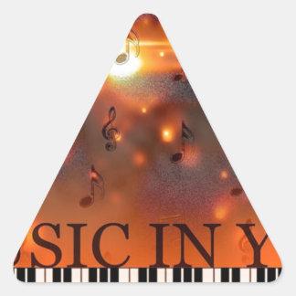 Music In You Triangle Sticker