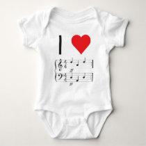 Music Infant Creeper, I love dada! Baby Bodysuit