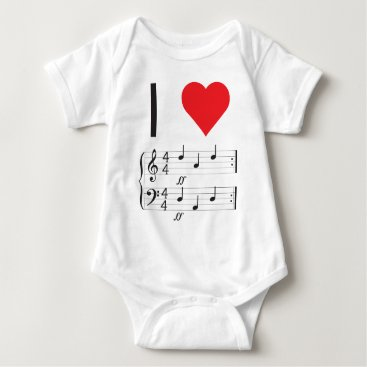Toddler & Baby themed Music Infant Creeper, I love dada! Baby Bodysuit