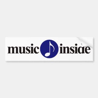 music inside car bumper sticker