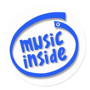 Music Inside Classic Round Sticker