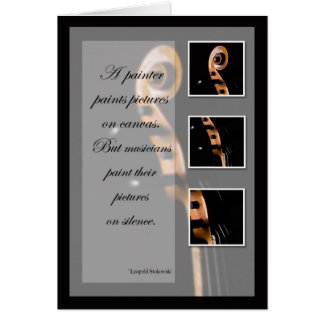 Music Inspiration Cello or Bass Greeting Cards