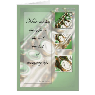 Music Inspiration Flute Greeting Cards