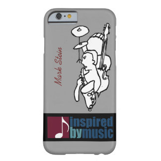 music inspired design with custom name barely there iPhone 6 case