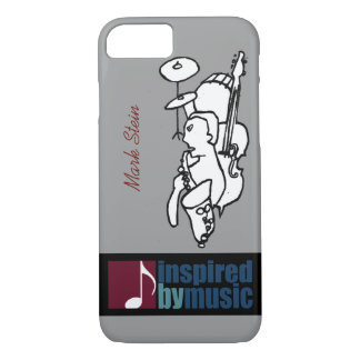 music inspired design with custom name iPhone 8/7 case