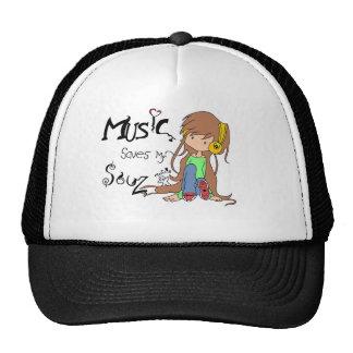 Music inspired original design trucker hat