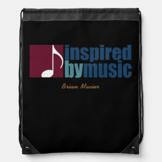 music inspired personalized drawstring backpack