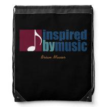 music inspired personalized drawstring bag