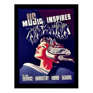Music Inspires Postcard