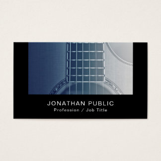 Music Instructor Guitar Tutorials Silk Finish Luxe Business Card