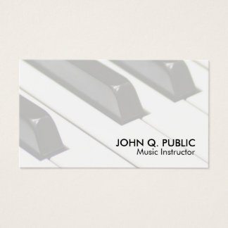 Music Instructor Professional Design Business Card