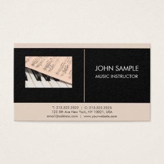Music Instructor Professional Elegant Business Card