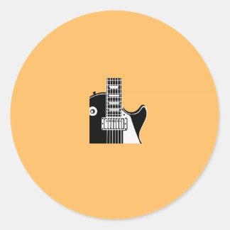 Music instrument guitar - Musicians Round Stickers