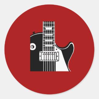 Music instrument guitar - Musicians Round Sticker