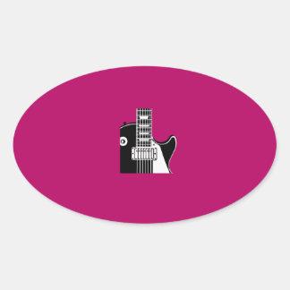 Music instrument guitar - Musicians Oval Sticker