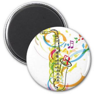 Music Instrument illustration 2 Inch Round Magnet