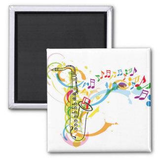 Music Instrument illustration 2 Inch Square Magnet