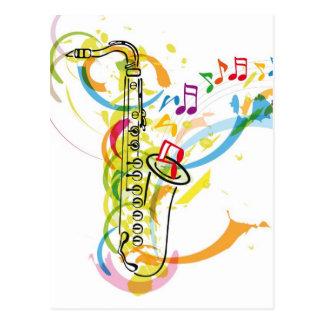 Music Instrument illustration Postcard
