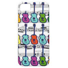 music instruments and notes iPhone 5 cases