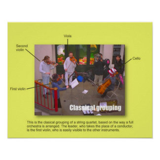 Music, Instruments, Classic grouping Poster