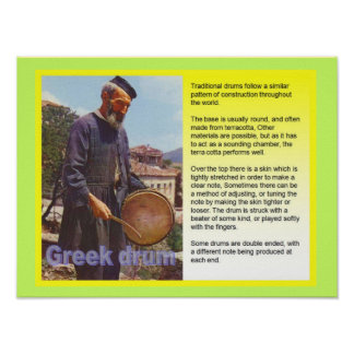 Music, instruments, Greek drums Posters