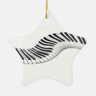 Music Instruments Keyboard Piano Notes Art Christmas Ornaments