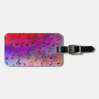 Music  Instruments  notes dance tunes radio keys Luggage Tag