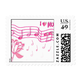 Music  Instruments  notes dance tunes radio keys Stamps
