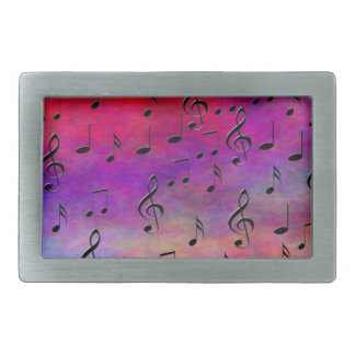 Music  Instruments  notes dance tunes radio keys Rectangular Belt Buckle
