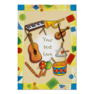 Music instruments - Poster