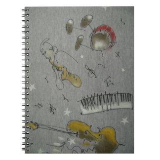 music instruments spiral notebook