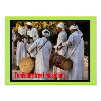 Music, instruments, Tunisian Street musicians Posters
