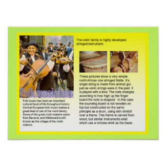 Music, instruments, Violin family Print