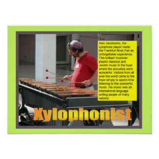 Music, instruments, Xylophonist Posters