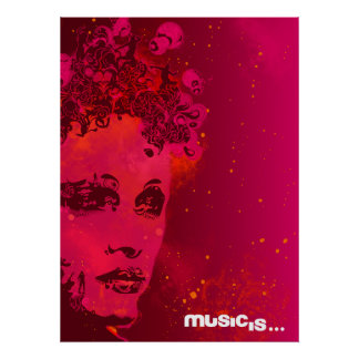 music is (1) poster