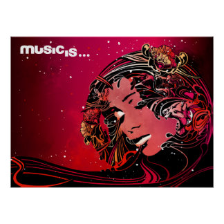 music is (3) poster