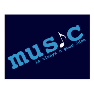 music is a good idea postcard