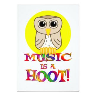 Music is a Hoot Personalized Announcements