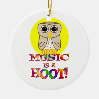 Music is a Hoot Ornament
