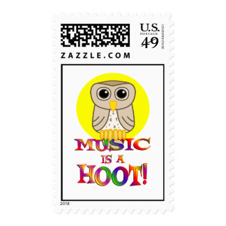 Music is a Hoot Stamp
