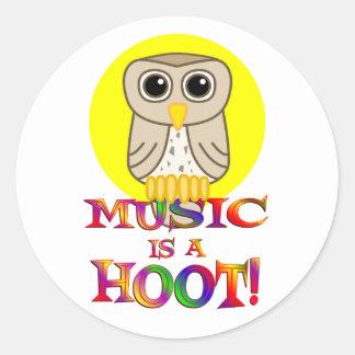 Music is a Hoot Sticker