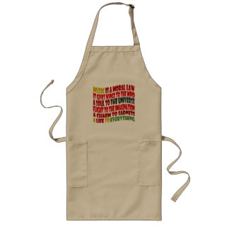 Music is a Moral Law Long Apron