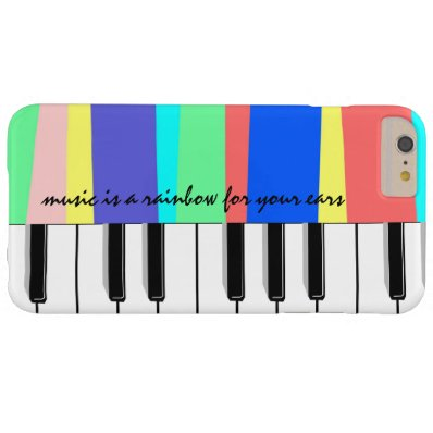 Music is a rainbow for your ears, piano phone barely there iPhone 6 plus case