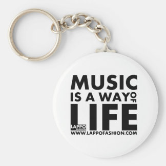 Music is a way of life keychain
