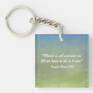 Music is All Around US Acrylic Keychain