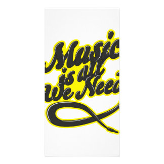 Music Is All We Need Typography Card