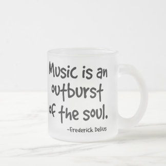 Music Is An Outburst Of The Soul Gift Frosted Glass Coffee Mug